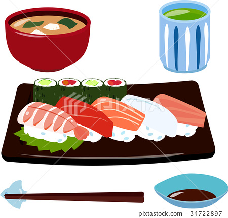 sushi, set meal, daily special 34722897