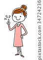 年輕 青春 女性 34724236
