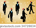silhouette of businessman 34726634