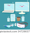 cartoon 3c electronic products 34726637