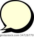 矢量 對話泡泡 噴出 34726770