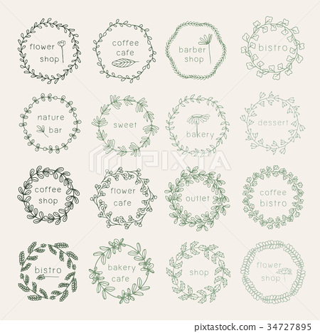 Floral decoration pattern 34727895