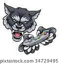 Wolf Player Gamer Mascot 34729495