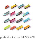 Train Carriage Isometric Set 34729529