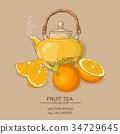 orange, plant, illustration 34729645
