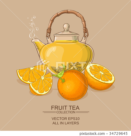 orange tea illustration 34729645