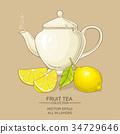 lemon, illustration, vector 34729646