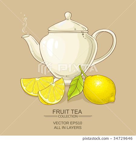 lemon tea vector illustration 34729646