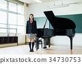 高中女生 鋼琴 高中生 34730753