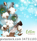 Realistic Cotton Background 34731103