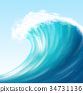 Realistic Sea Big Wave 34731136