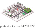 Factory Isometric Composition 34731772