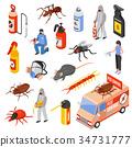 Pest Control 3d Isomeric Set 34731777