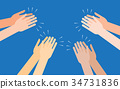 clapping, vector, hand 34731836