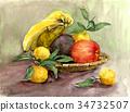水彩 水彩画 水果 34732507