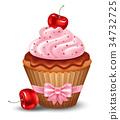 Cherry cupcake 34732725