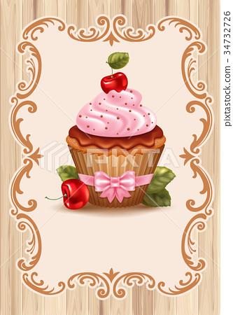 Cherry cupcake 34732726