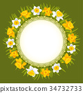 Wreath of spring flowers 34732733