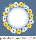wreath, vector, flowers 34732739