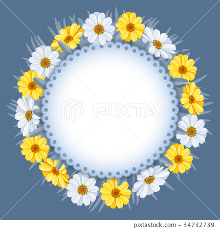 Wreath of spring flowers 34732739