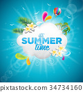 Vector It's Summer Time Holiday typographic 34734160