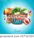 Vector Summer Time Holiday illustration 34734164