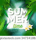 Vector Summer Time Holiday typographi illustration 34734186