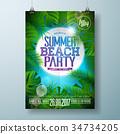 design, summer, vector 34734205