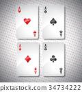 Vector illustration on a casino theme 34734222