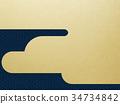 日本纸 - 日本模式 - 背景 - 镀金 - 现代 34734842