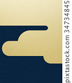日本纸 - 日本模式 - 背景 - 镀金 - 现代 34734845