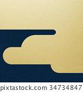 日本纸 - 日本模式 - 背景 - 镀金 - 现代 34734847