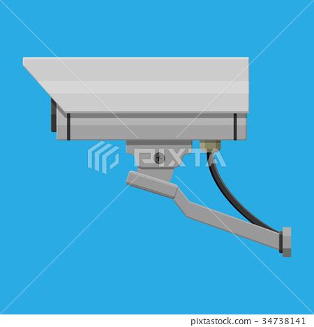 Security camera. Surveillance remote camera. 34738141