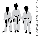 female, karate, kid 34738975