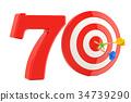 Target 70, success and achievement concept 34739290