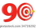Target 90, success and achievement concept 34739292