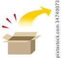 硬纸板 瓦楞纸 小木箱 34740073