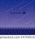 满天星斗的天空和流星 34740918