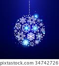 christmas, vector, decorative 34742726
