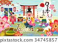 Japan tokyo travel poster 34745857