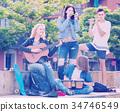 laughing, teenager, music 34746549