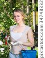 garden, woman, young 34748332