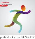 Athletics color sport icon 34749112
