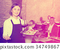 waiter, restaurant, country 34749867
