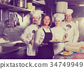 waitress, kitchen, chef 34749949