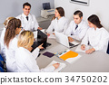 Discussion of research work. 34750202