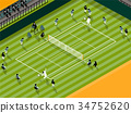 tennis sport info graphic design concept 34752620