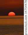 evening scene, blue water, marine 34754476
