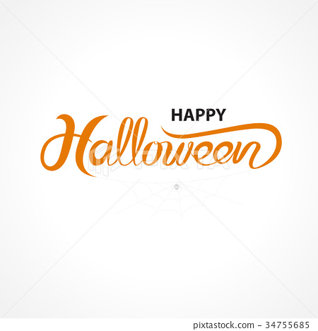 Halloween banner calligraphy. trick or treat 34755685
