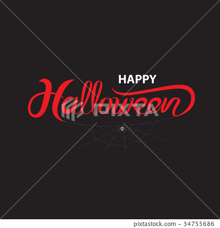 Halloween banner calligraphy. trick or treat 34755686